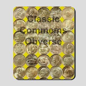 Classic Commems Obverse Journal Mousepad
