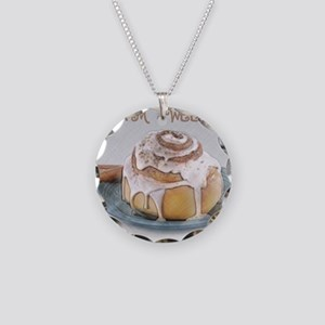Sweet Cinnamon Roll Necklace Circle Charm