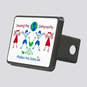Seeing the World Different Rectangular Hitch Cover