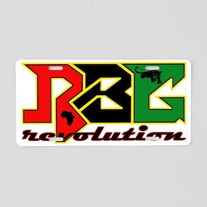 RBG Revolution Aluminum License Plate