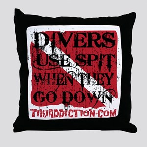 DIVERS GET WET - ALL Throw Pillow