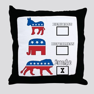 We are awake. Throw Pillow