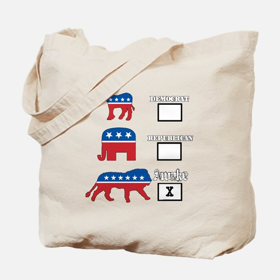 We are awake. Tote Bag