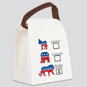 We are awake. Canvas Lunch Bag