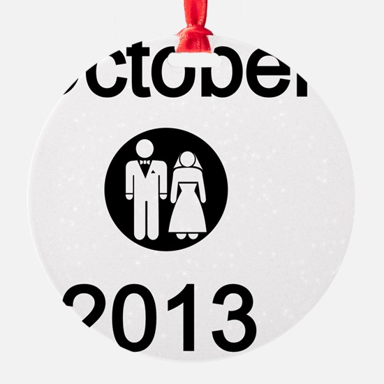 October 2013 Bride and Groom Ornament