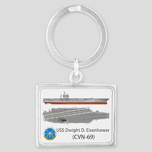 USS Dwight D. Eisenhower (CVN-6 Landscape Keychain