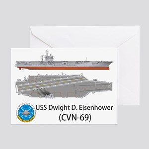 USS Dwight D. Eisenhower (CVN-69) Greeting Card