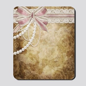 Vintage Pearls and Lace Mousepad