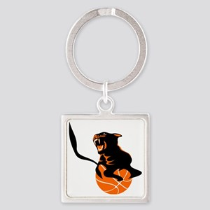 Panther basketball Square Keychain