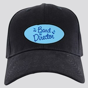 Band Director Black Cap with Patch