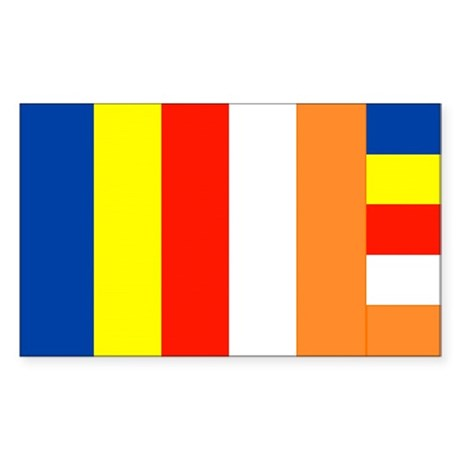 International Buddhist Flag Decal