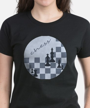 Chess King and Pieces Women's Dark T-Shirt