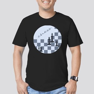 Chess King and Pieces Men's Fitted T-Shirt (dark)