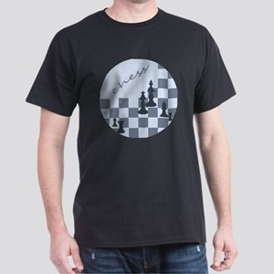 Chess King and Pieces Dark T-Shirt