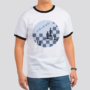 Chess King and Pieces Ringer T