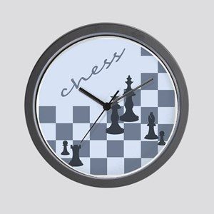 Chess King and Pieces Wall Clock