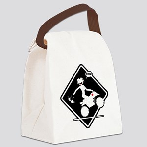 ATV MALFUNCTION black placard Canvas Lunch Bag