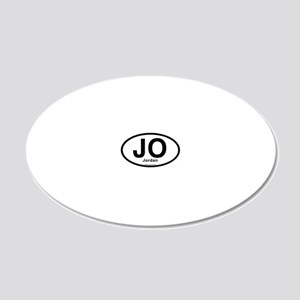 JO - Jordan oval 20x12 Oval Wall Decal