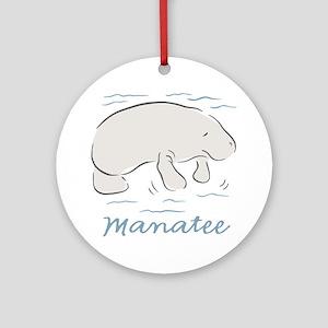Manatee Round Ornament