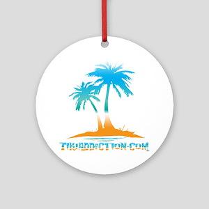 PALMS - PARADISE Round Ornament