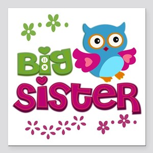 "Big Sister Square Car Magnet 3"" x 3"""