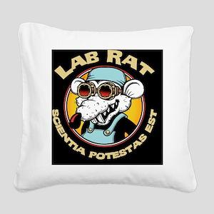 lab-rat2-PLLO Square Canvas Pillow