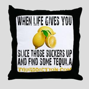 LEMONS - WHITE Throw Pillow