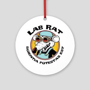 lab-rat2-LTT Round Ornament
