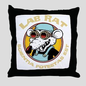 lab-rat2-DKT Throw Pillow