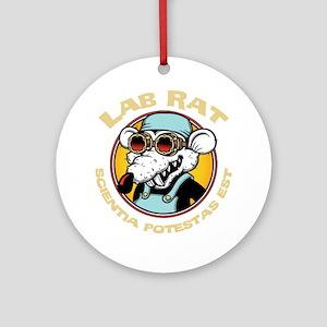 lab-rat2-DKT Round Ornament