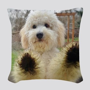 Goldendoodle Puppy Dog Woven Throw Pillow