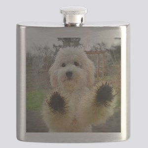 Goldendoodle Puppy Dog Flask