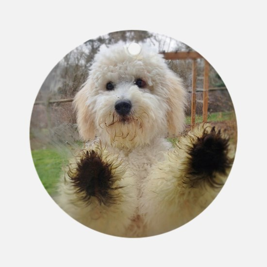 Goldendoodle Puppy Dog Round Ornament