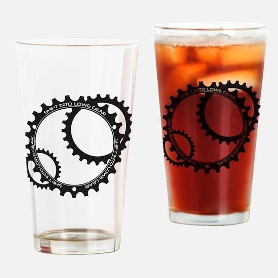 Lowe Gear Sprocket Drinking Glass