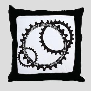 Lowe Gear Sprocket Throw Pillow