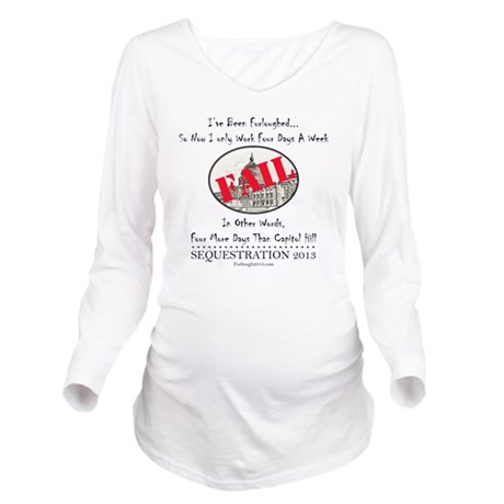Four Day Work Week Long Sleeve Maternity T-Shirt