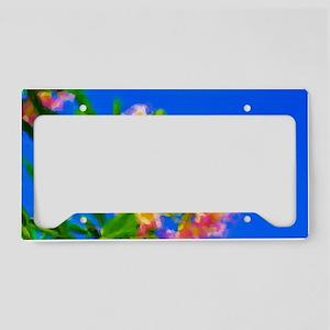 Desert Willow Bloom Modern Pa License Plate Holder