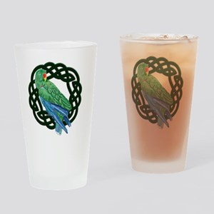 Celtic Eclectus Parrot Drinking Glass