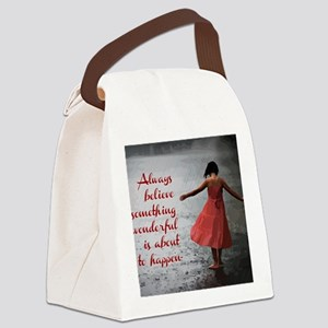 Always Believe Canvas Lunch Bag