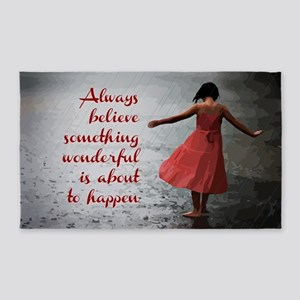 Always Believe 3'x5' Area Rug