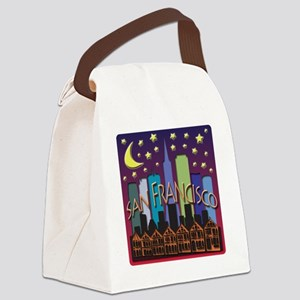 San Francisco Skyline Mega Color Canvas Lunch Bag