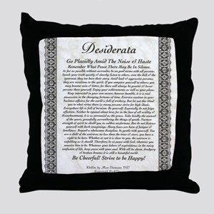 The Desiderata Poem by Max Ehrmann Throw Pillow
