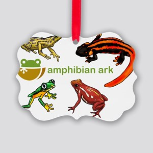 AAk logo with amphibians Picture Ornament