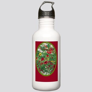 RED WILDFLOWER Stainless Water Bottle 1.0L