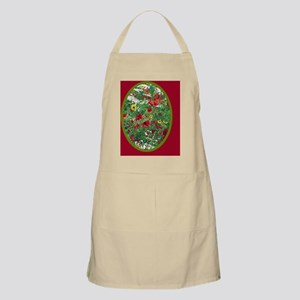 RED WILDFLOWER Apron