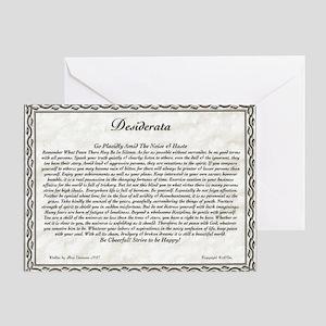 The Desiderata Poem by Max Ehrmann Greeting Card