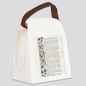 The Desiderata Poem by Max Ehrman Canvas Lunch Bag