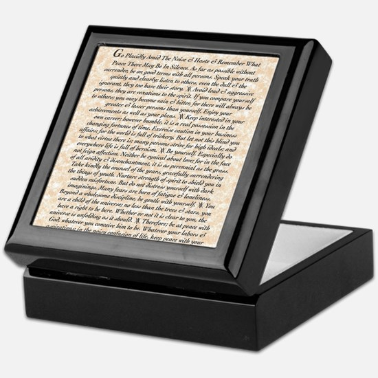 The Desiderata Poem by Max Ehrmann Keepsake Box