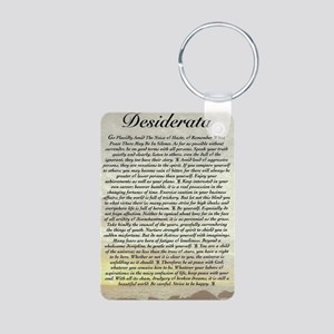 The Desiderata Poem by Max Aluminum Photo Keychain