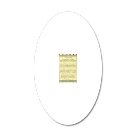 The Desiderata Poem by Max E 20x12 Oval Wall Decal
